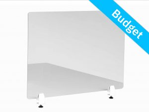 Office screen budget table clamp white